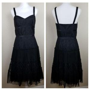 Antonio Melani Black Lace Cocktail Dress Size 4